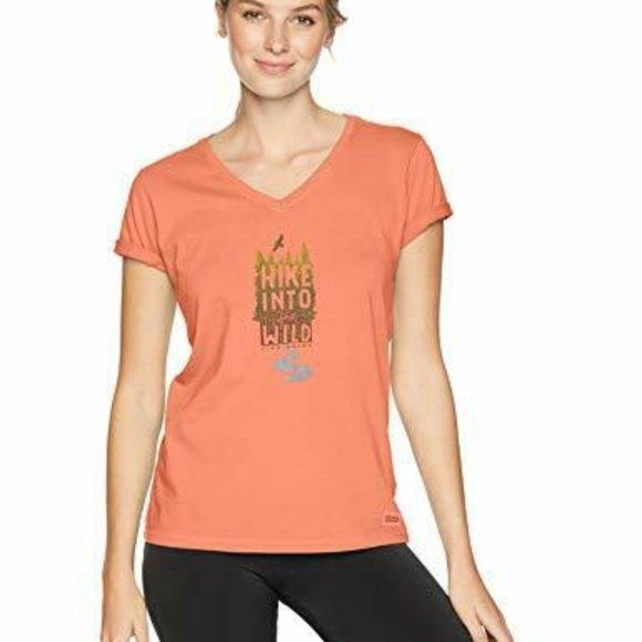 Life Is Good Tops - Life is Good Womens T-Shirt Hike Into the Wild